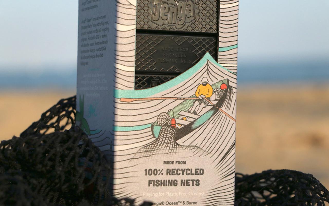 Recycled Fishing Nets Jenga Game Ocean