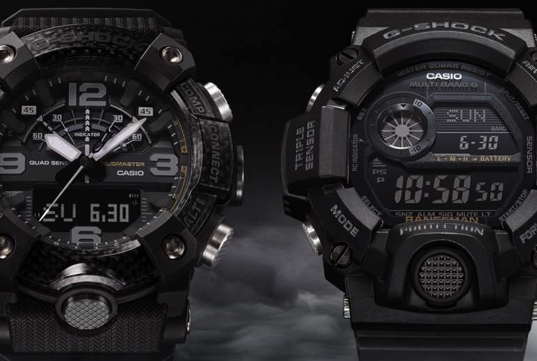 Casio G-Shock Master Of G Series Blackout Timepieces Image