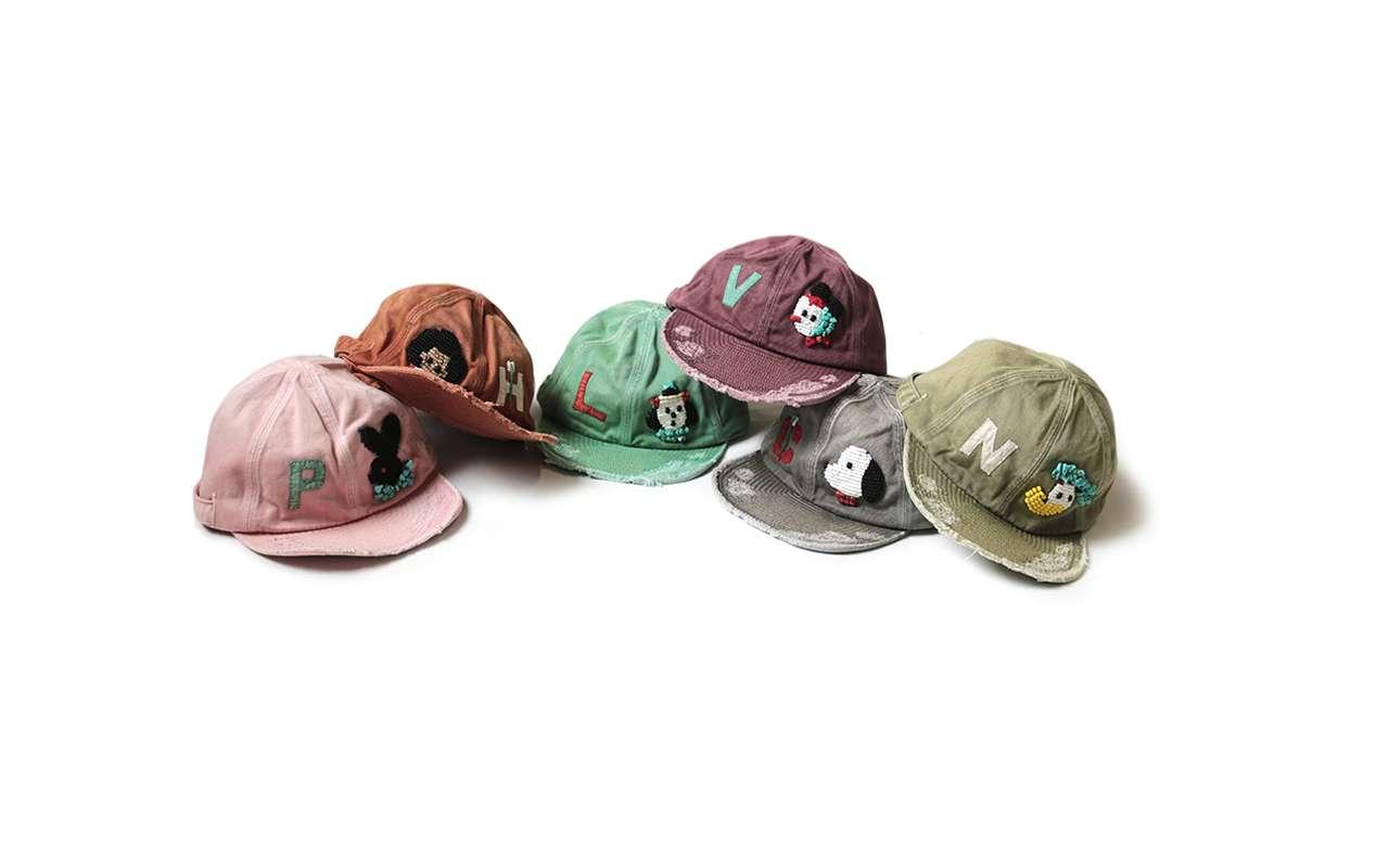 KAPITAL Handcrafted Katsuragi KOLA Caps