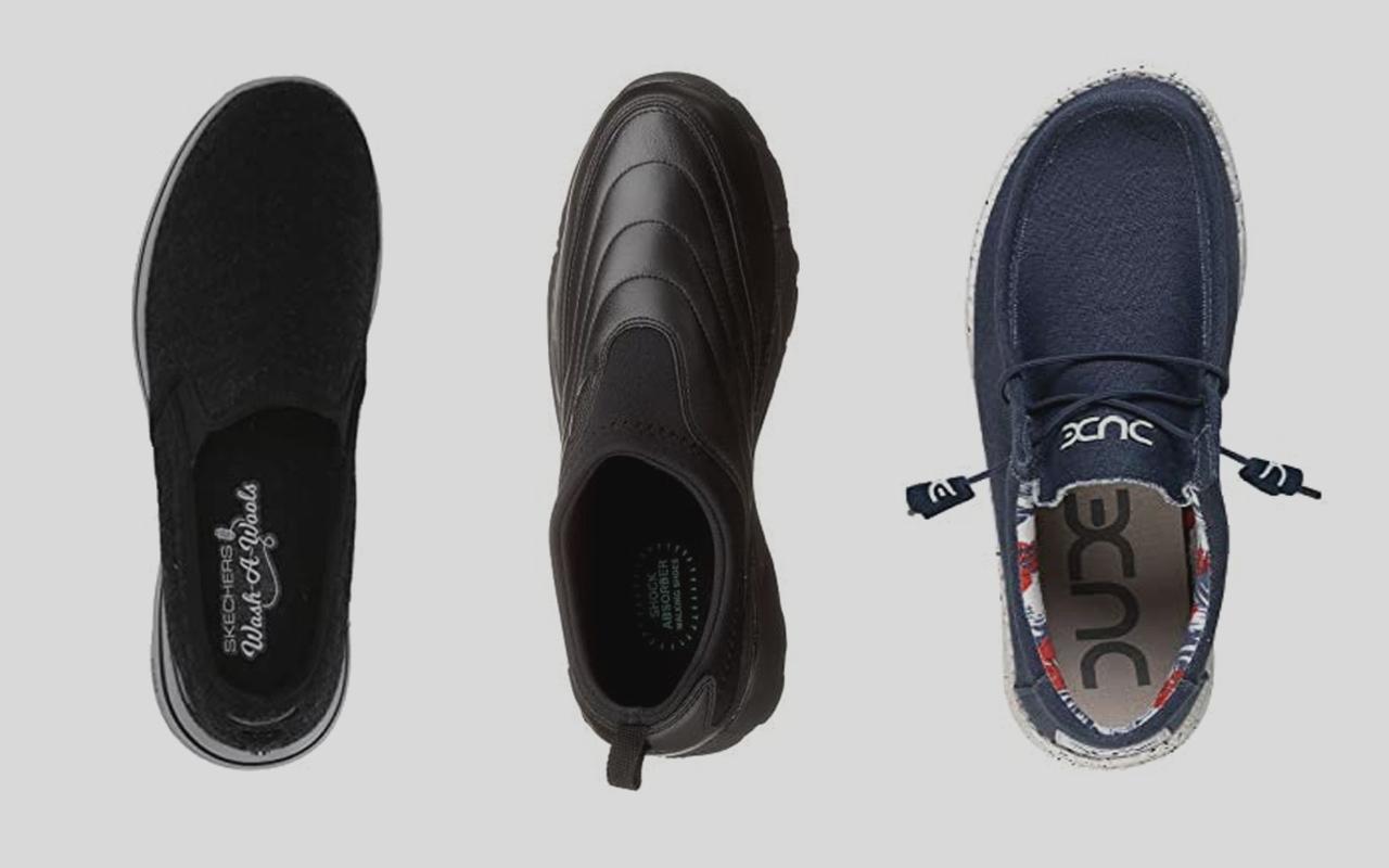 Three machine-washable men's shoes that