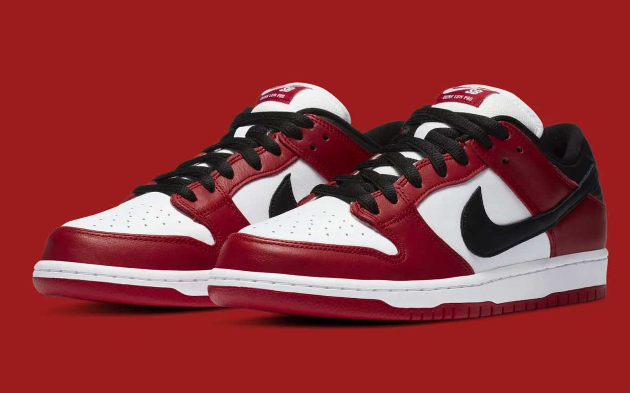 "Nike SB Dunk Low modeled after ""Chicago"