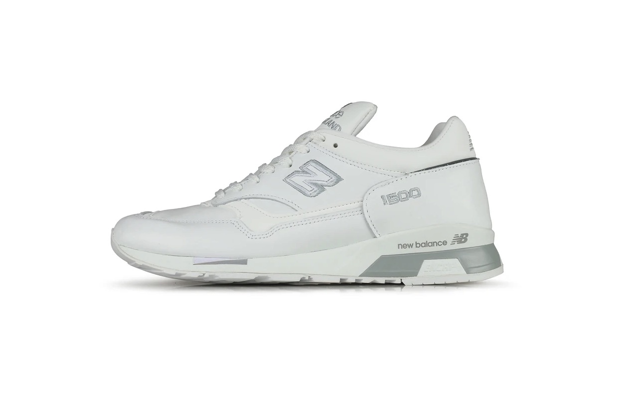 Made-In-UK New Balance 1500 White Silver Hanon