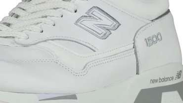 Made-In-UK New Balance 1500 White Silver Sneakers