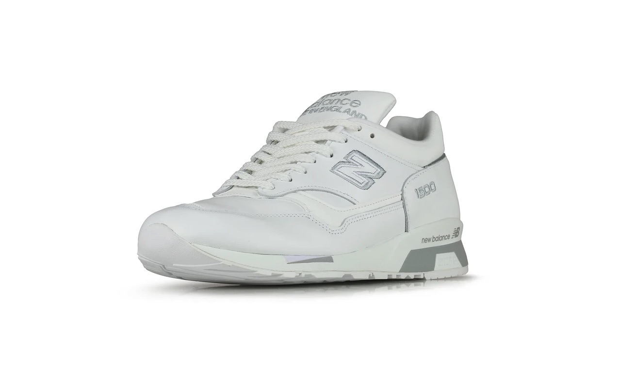 Made-In-UK New Balance 1500 White Silver