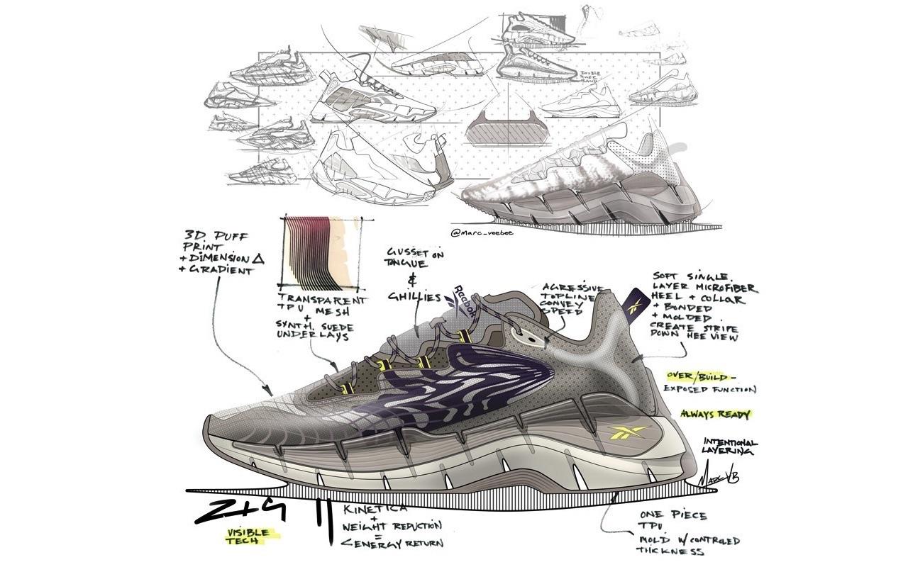 Reebok Zig Kinetica Futuristic Zig Kinetica II Design