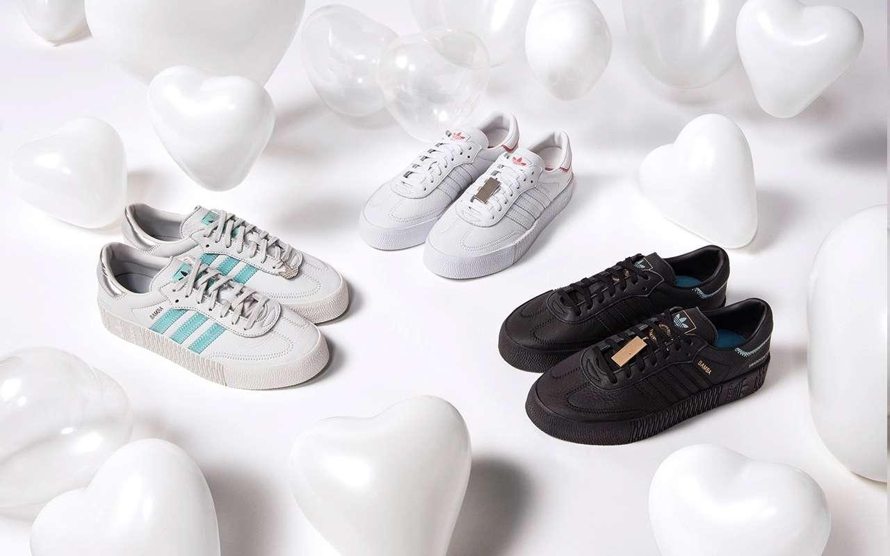 Adidas Sambarose Shoes with Swarovski Crystals