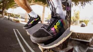 Frog Skateboards and Vans Old Skool and Slip-On Design