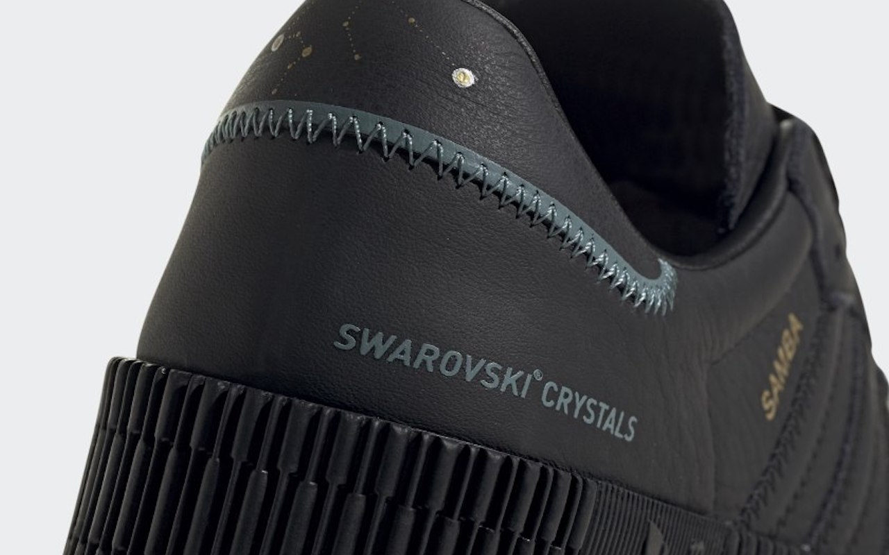 Sambarose Shoes with Swarovski Crystals Black 2