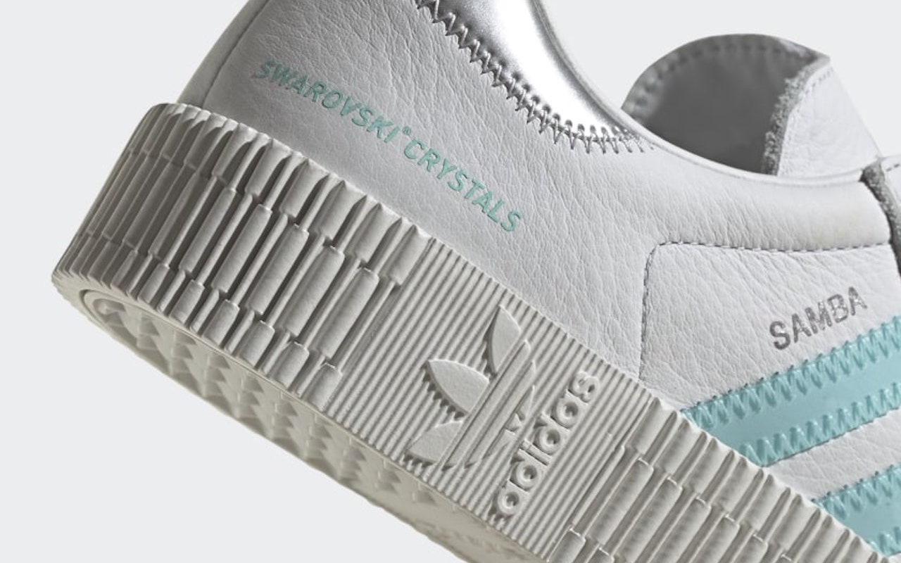 Sambarose Shoes with Swarovski Crystals White Blue 2