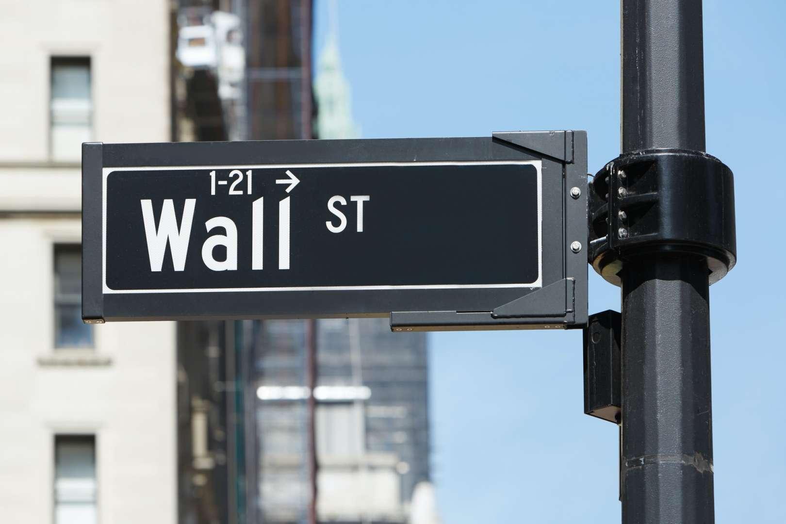 Wall Street sign near Stock Exchange, New York