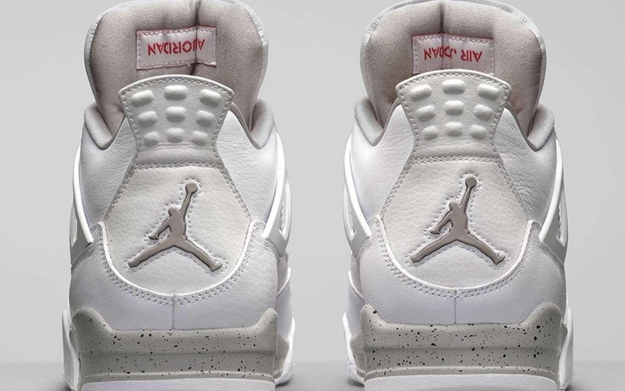 Nike Air Jordan 4 White Oreo Tech Grey Launch