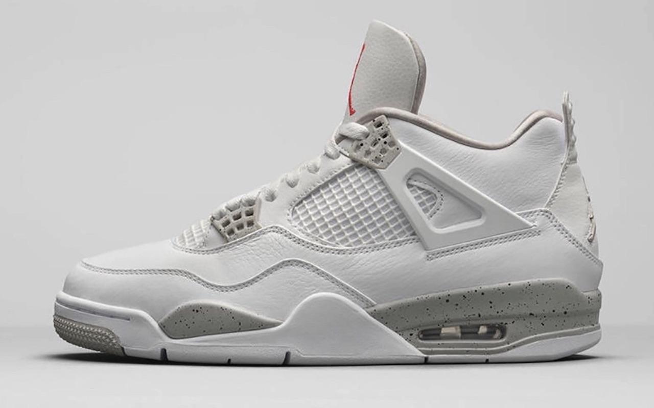 Nike Air Jordan 4 White Oreo Tech Grey