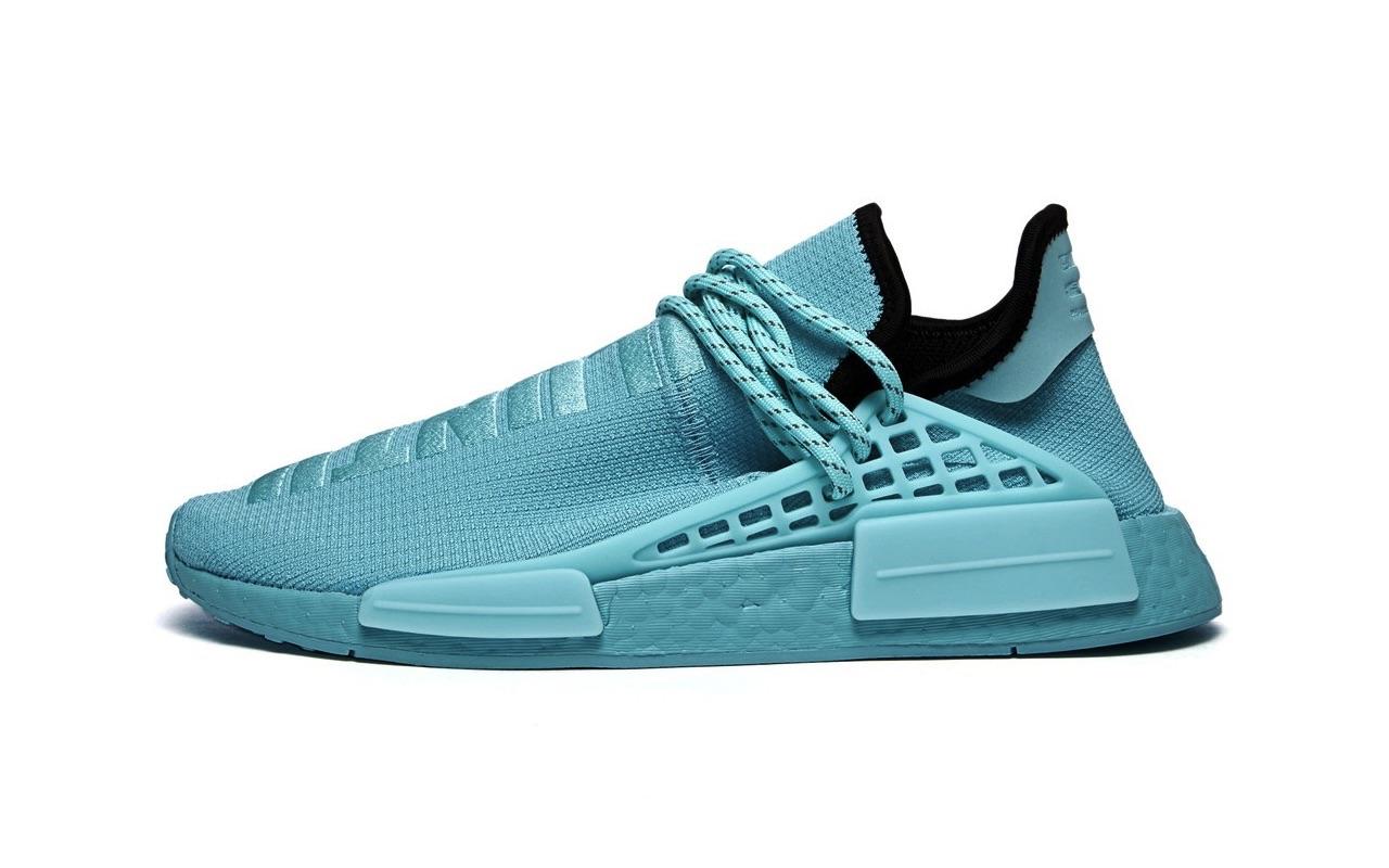 Pharrell x Adidas NMD Hu Clear Aqua Launch