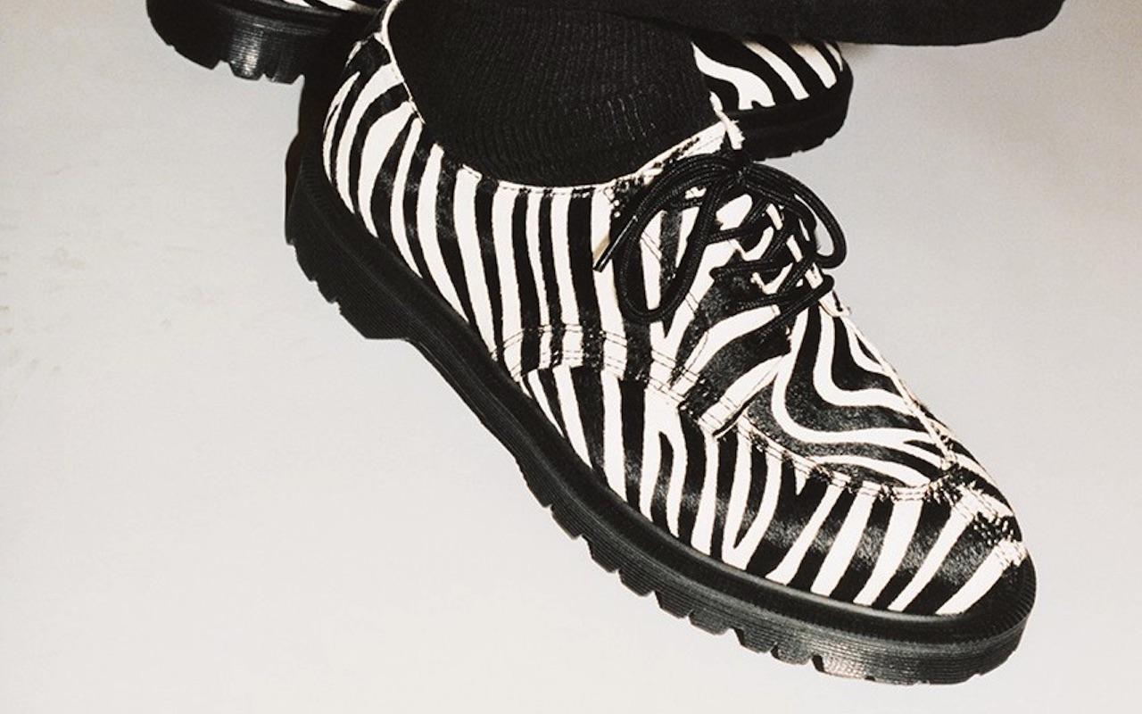 Supreme Dr. Martens 5-Eye Shoe Collaboration Zebra