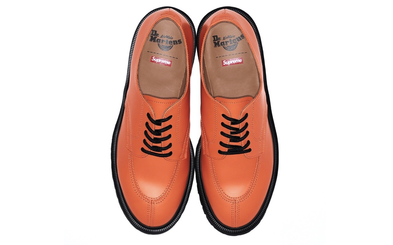 Supreme Dr. Martens 5-Eye Shoe Spring Summer 2021 Orange Where to Buy