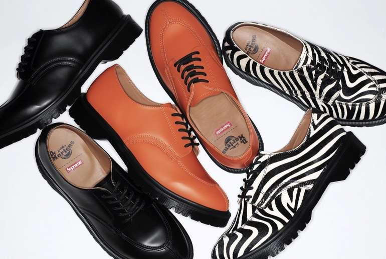 Supreme Dr. Martens 5-Eye Shoe Three Colorways