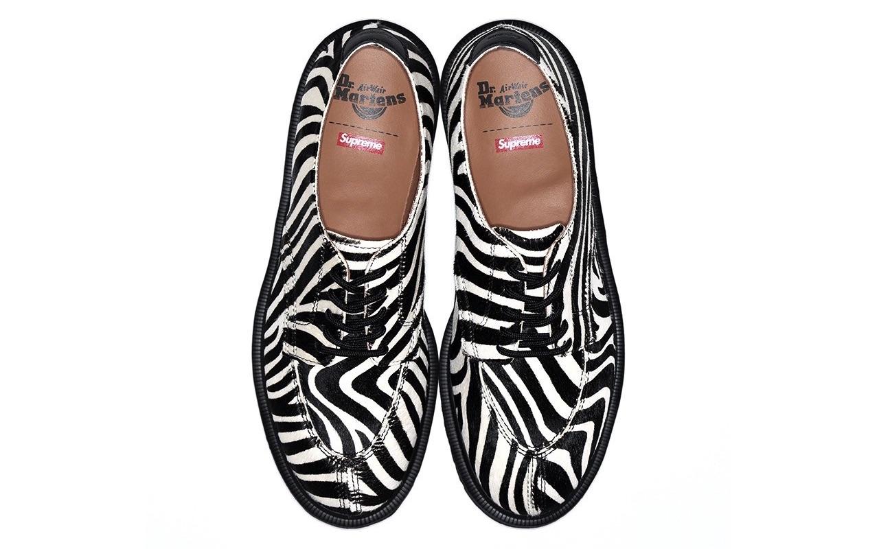 Supreme Dr. Martens Spring Summer 2021 Zebra Where to Buy