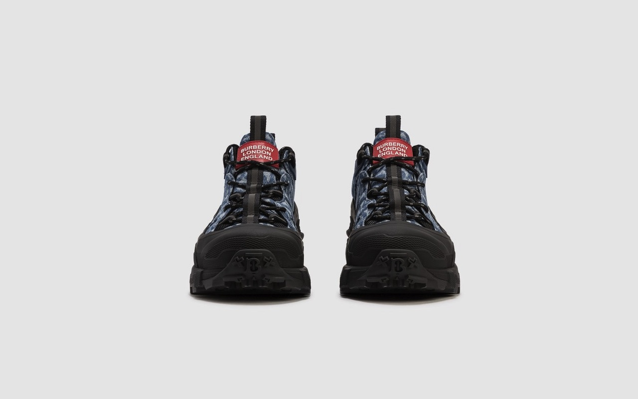 Burberry Arthur Sneaker Monogram Denim 4