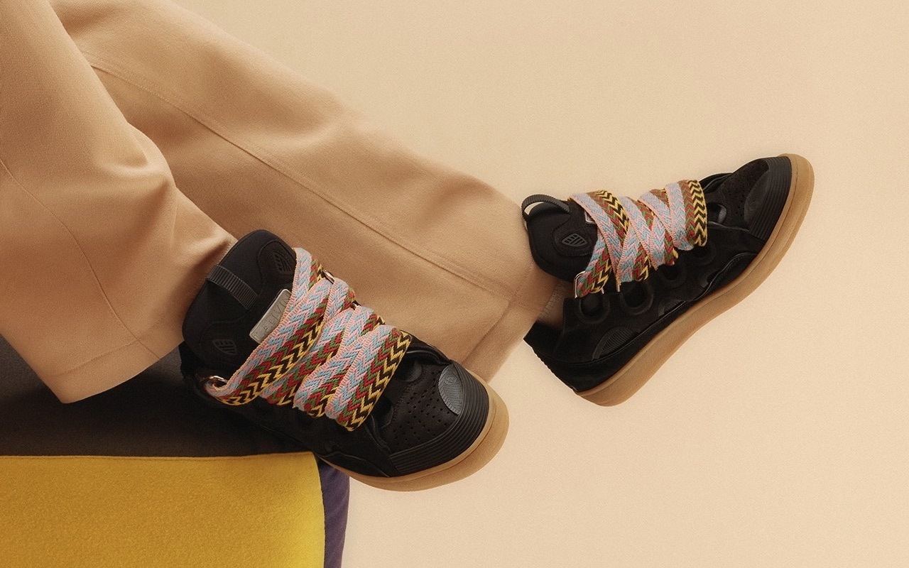 Lanvin Leather Curb Trainers