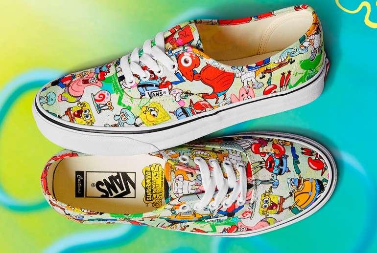 New SpongeBob SquarePants Vans Customs Collection