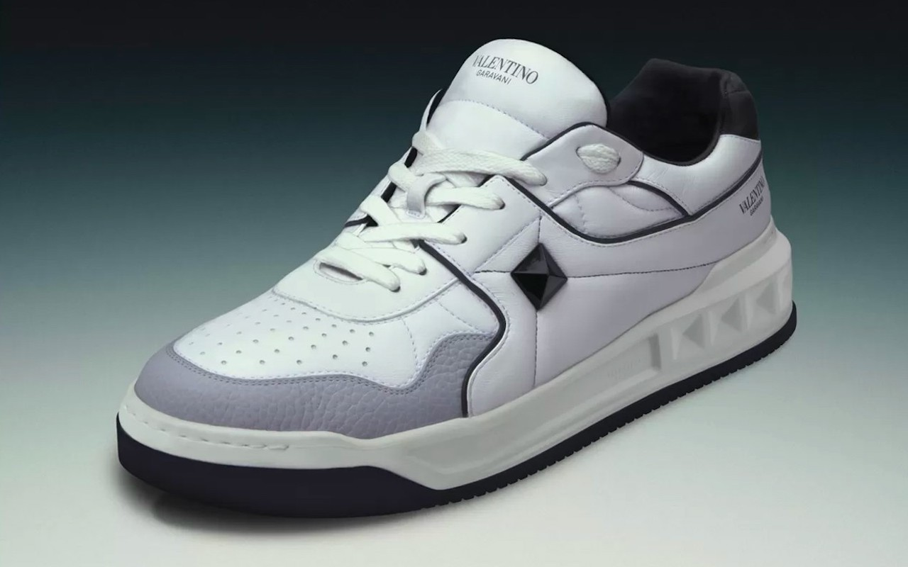 Valentino One Stud Calfskin Sneaker