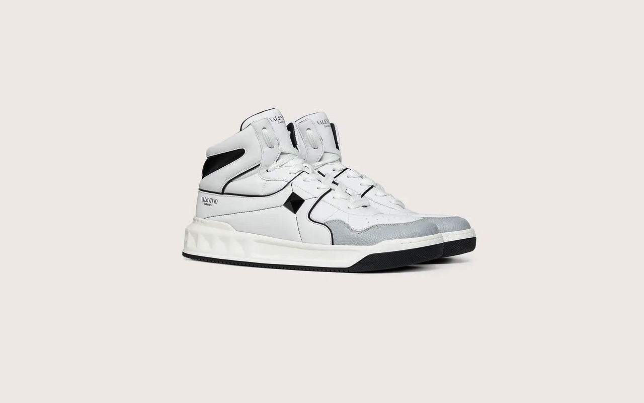 Valentino One Stud Calfskin Sneakers Price