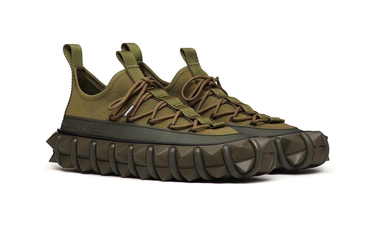 Craig Green X Valentino Garavani Rockstud X Sneakers Khaki 2