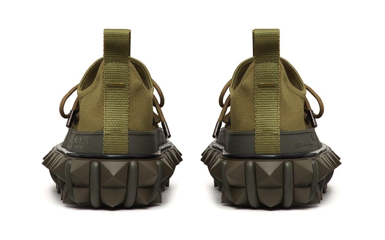 Craig Green X Valentino Garavani Rockstud X Sneakers Khaki 3