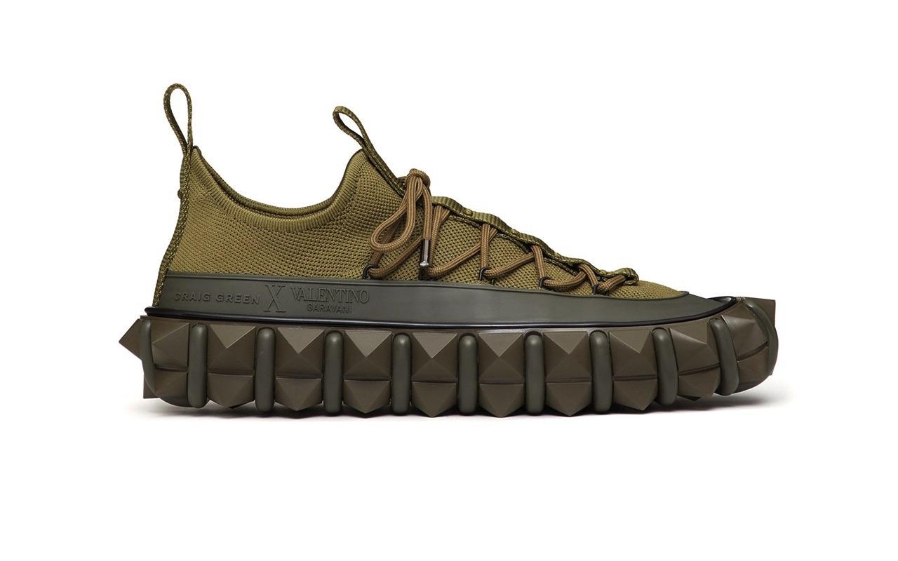 Craig Green X Valentino Garavani Rockstud X Sneakers Khaki