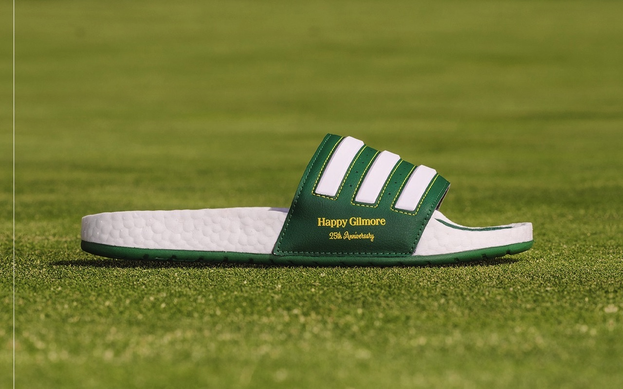 Extra Butter Adidas adilette BOOST Slide Happy Gilmore 25th Anniversary Edition Price