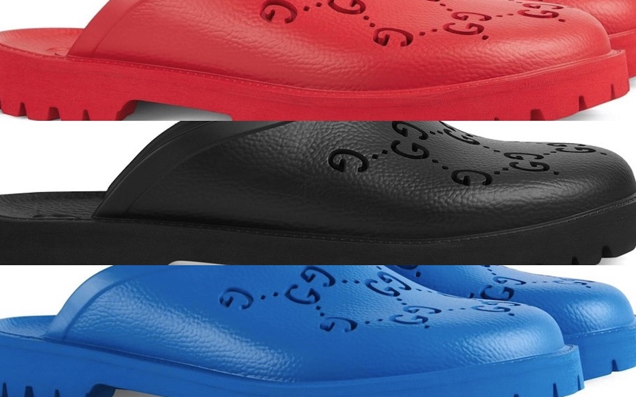 Gucci Mens Rubber Mules Color Options