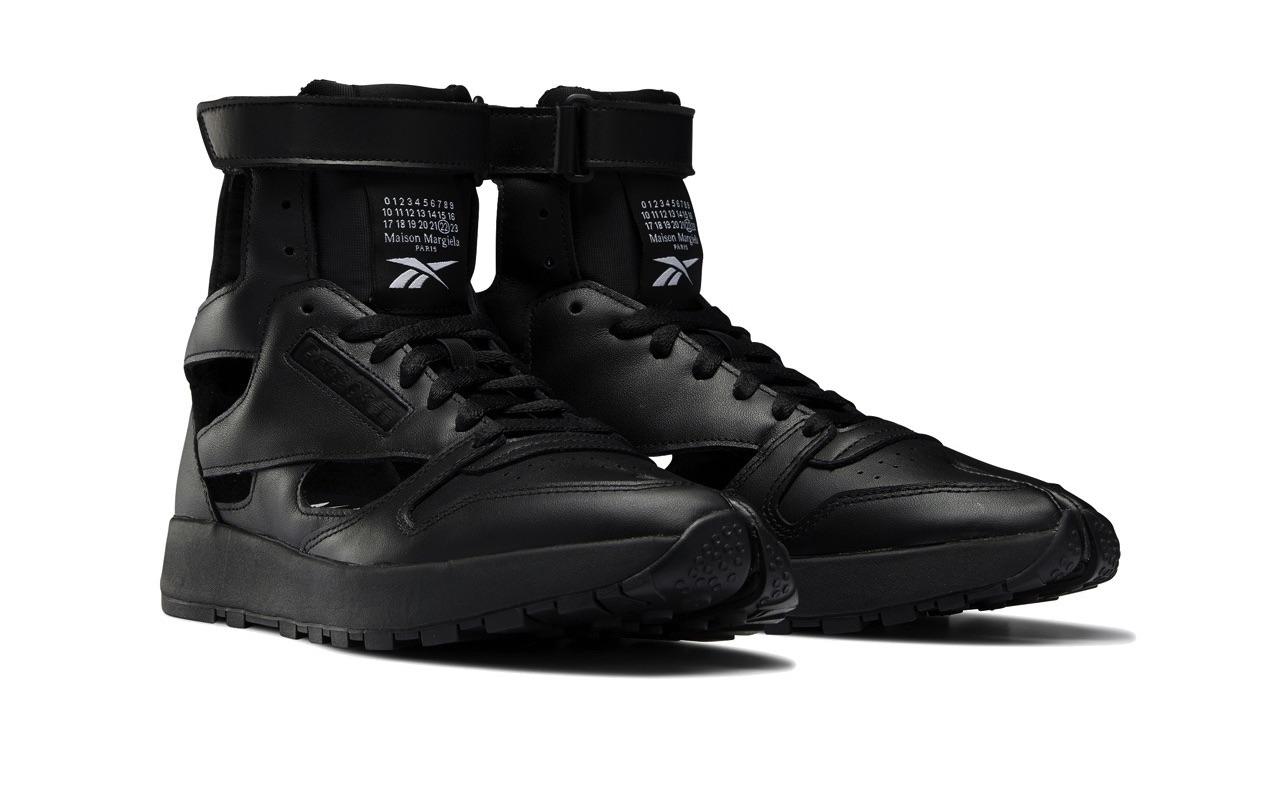 Maison Margiela Reebok Classic Leather Tabi High Gladiator Black 2