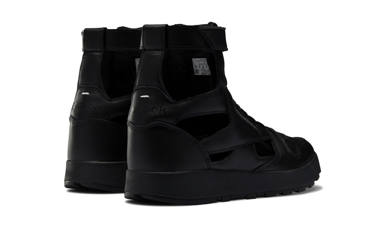 Maison Margiela Reebok Classic Leather Tabi High Gladiator Black 3