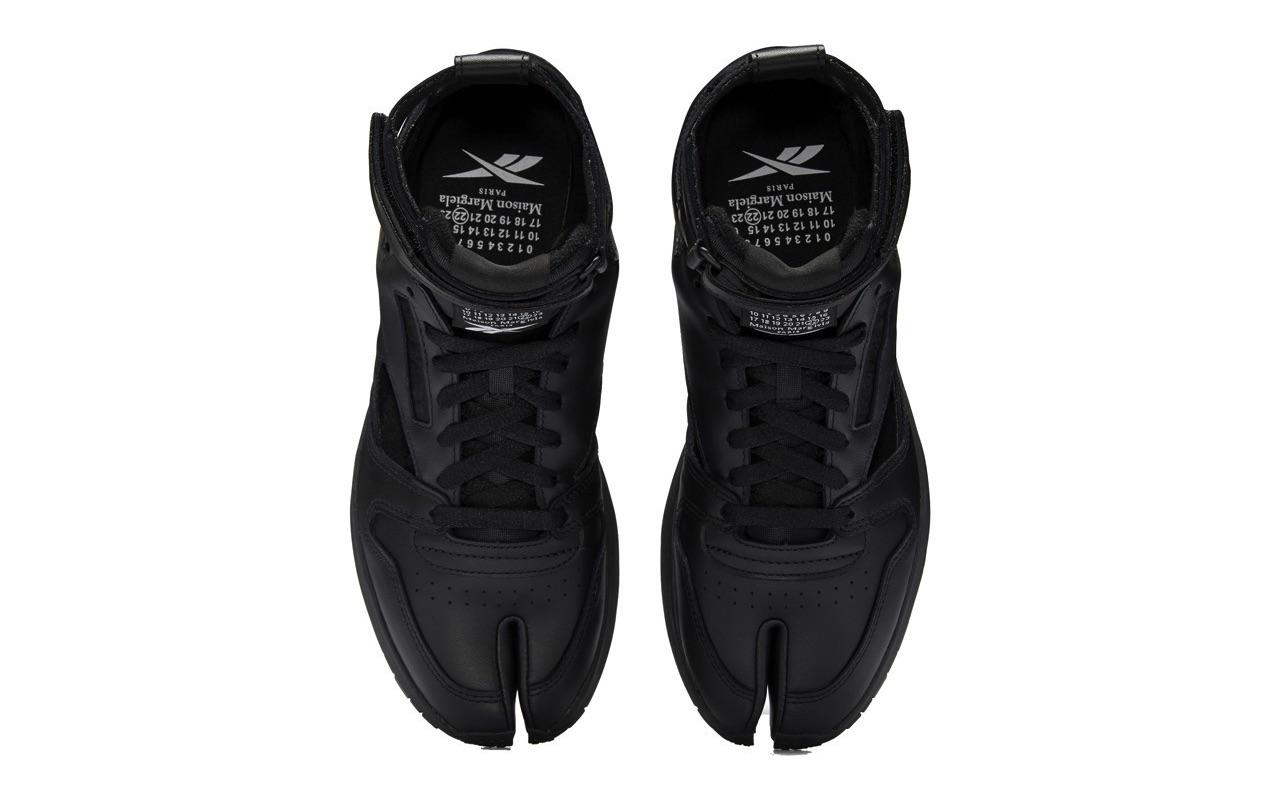 Maison Margiela Reebok Classic Leather Tabi High Gladiator Black 4