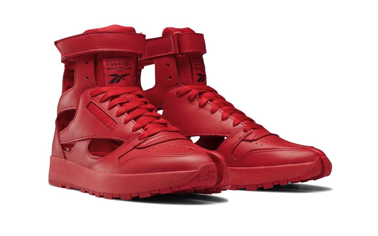 Maison Margiela Reebok Classic Leather Tabi High Gladiator Red 2