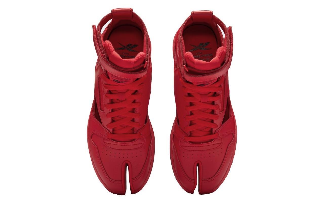 Maison Margiela Reebok Classic Leather Tabi High Gladiator Red 4