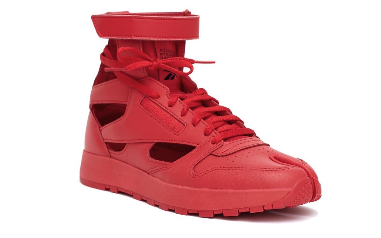 Maison Margiela Reebok Classic Leather Tabi High Gladiator Red