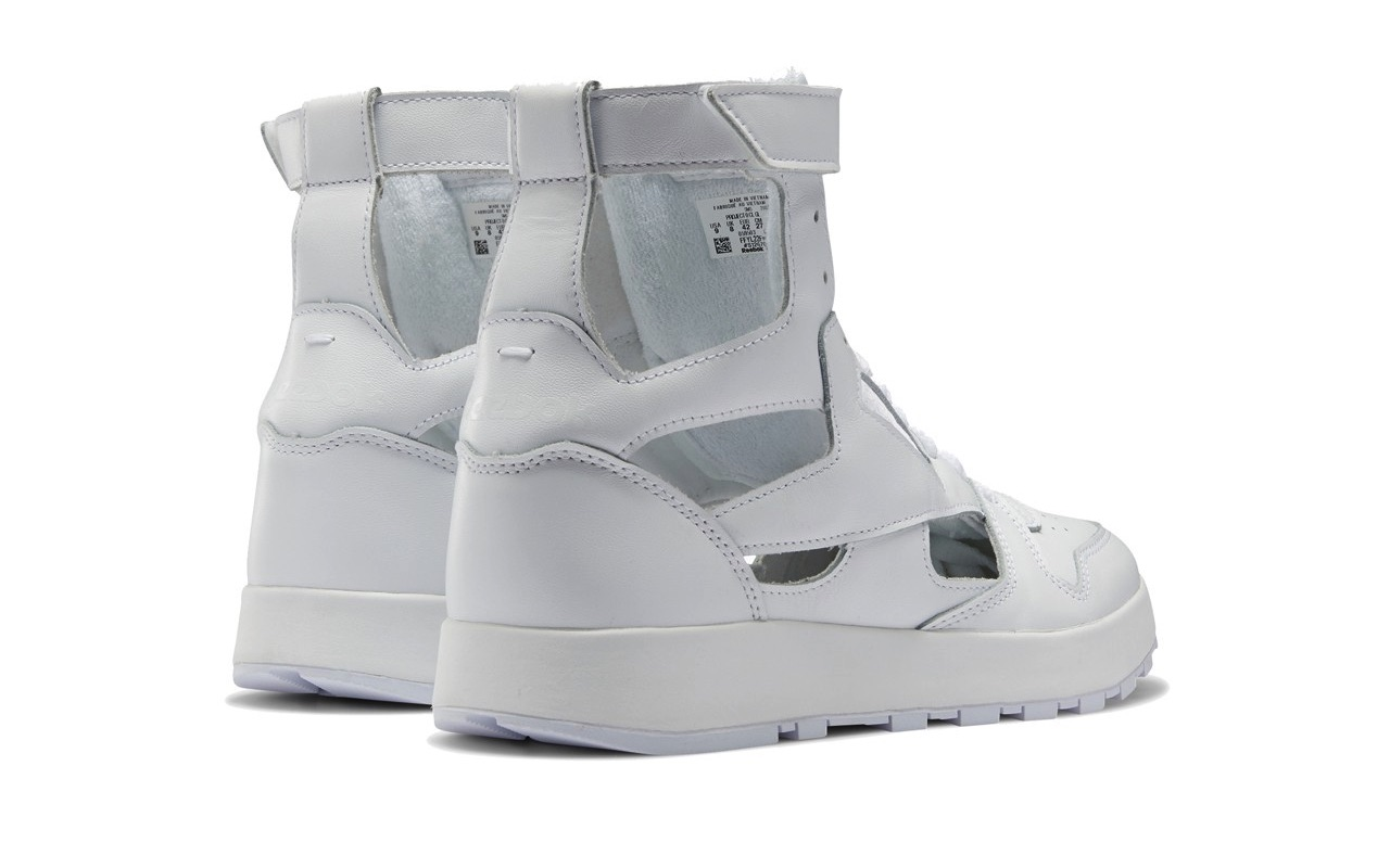Maison Margiela Reebok Classic Leather Tabi High Gladiator White 3