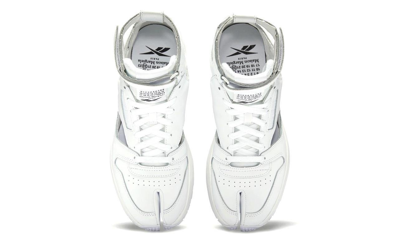 Maison Margiela Reebok Classic Leather Tabi High Gladiator White 4