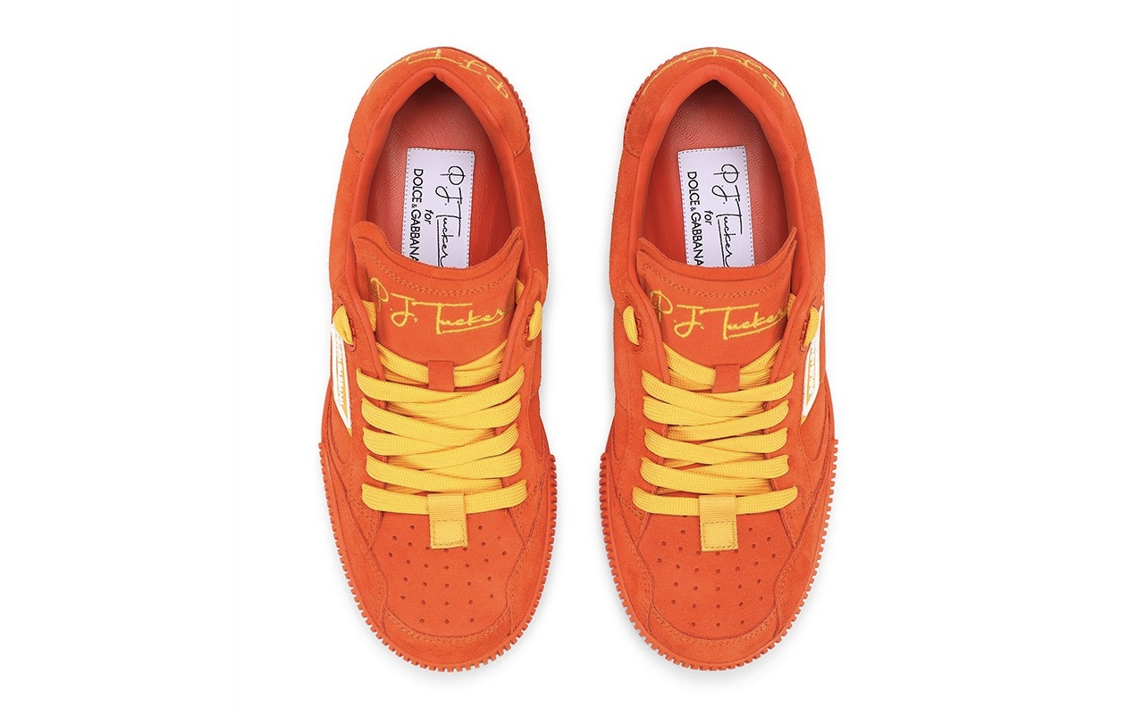 PJ Tucker Dolce Gabbana Miami Sneakers Sicilian Orange