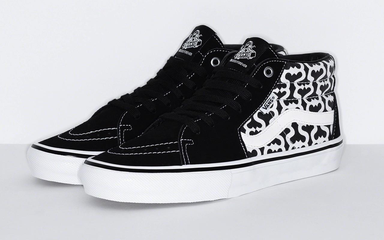 Supreme x Vans Skate Grosso Mid Spring 2021 Black