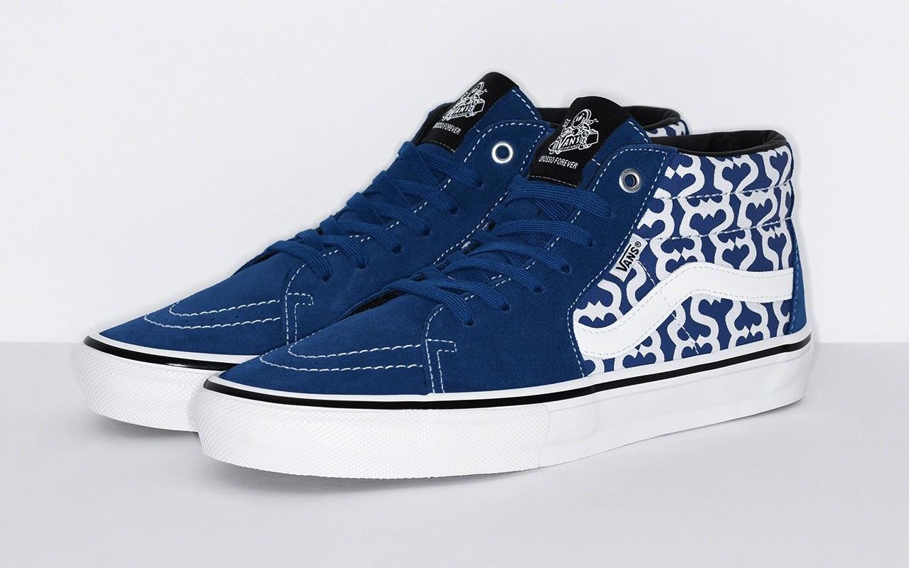 Supreme x Vans Skate Grosso Mid Spring 2021 Blue