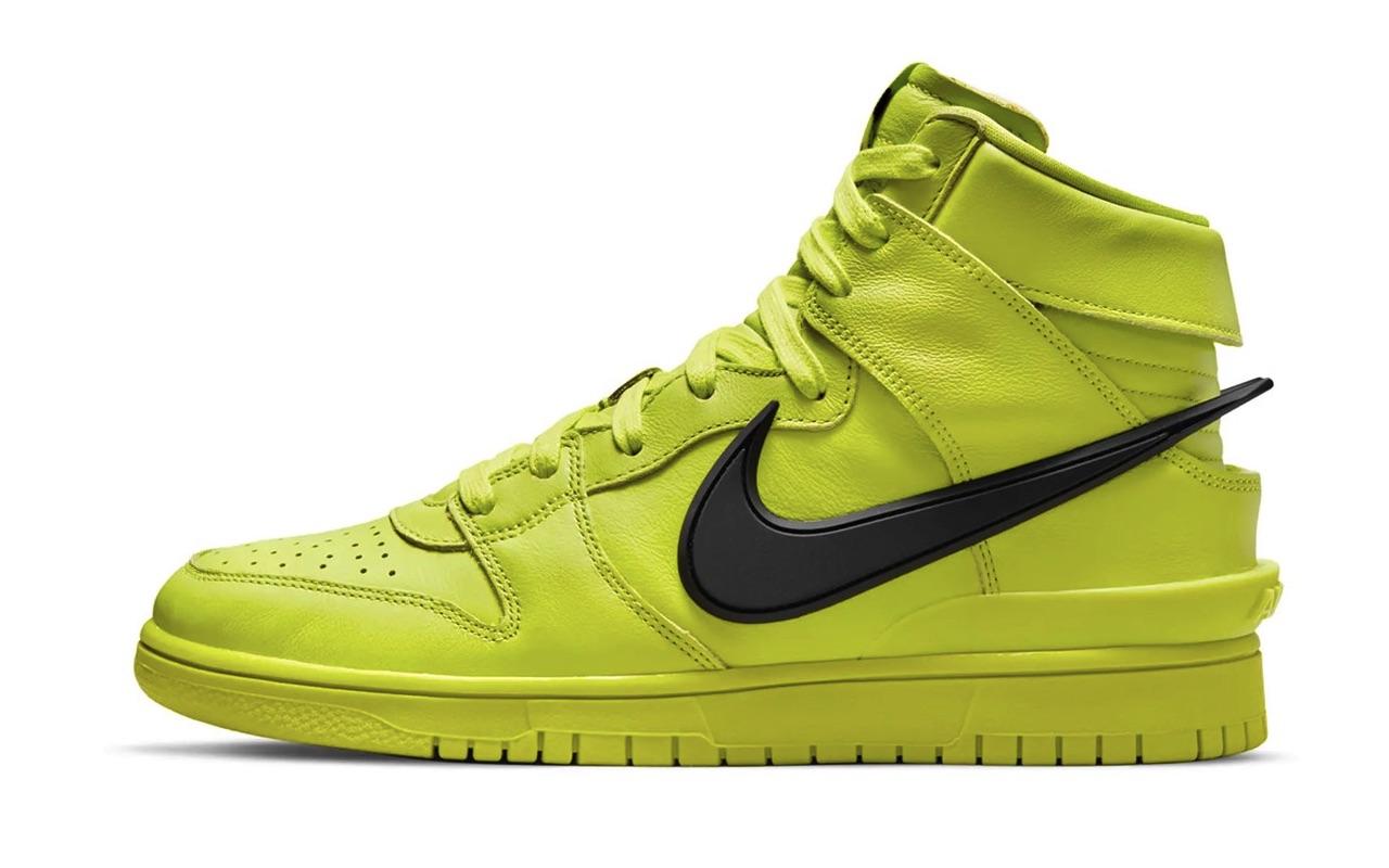 AMBUSH x Nike Dunk High Flash Lime Design