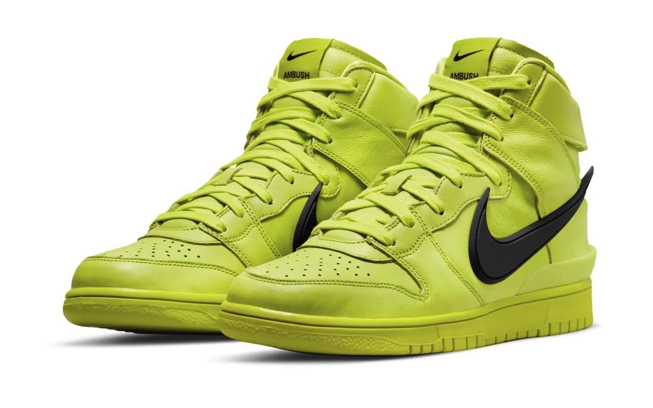 AMBUSH x Nike Dunk High Flash Lime Images