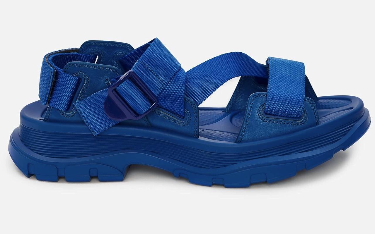 Alexander McQueen Tread Sandal Blue