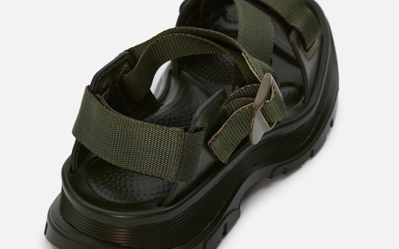 Alexander McQueen Tread Sandal Green