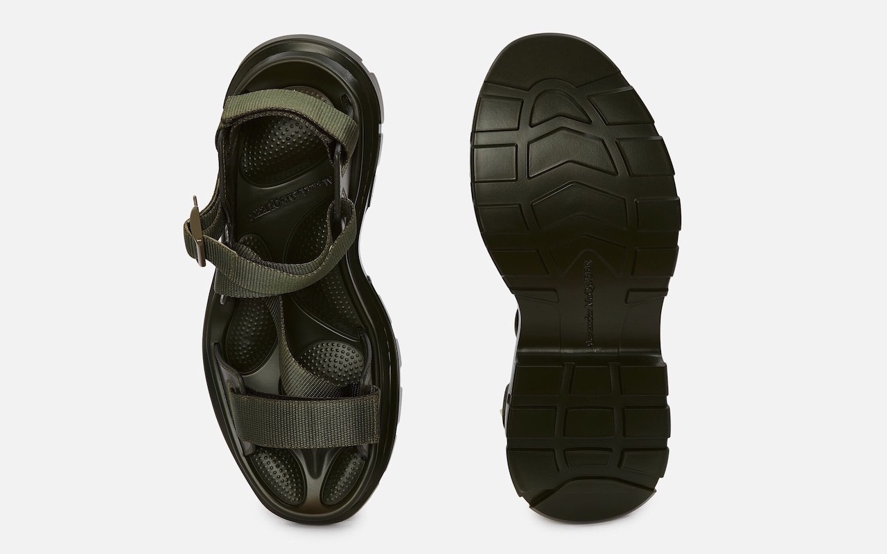 Alexander McQueen Tread Sandal Khaki Green