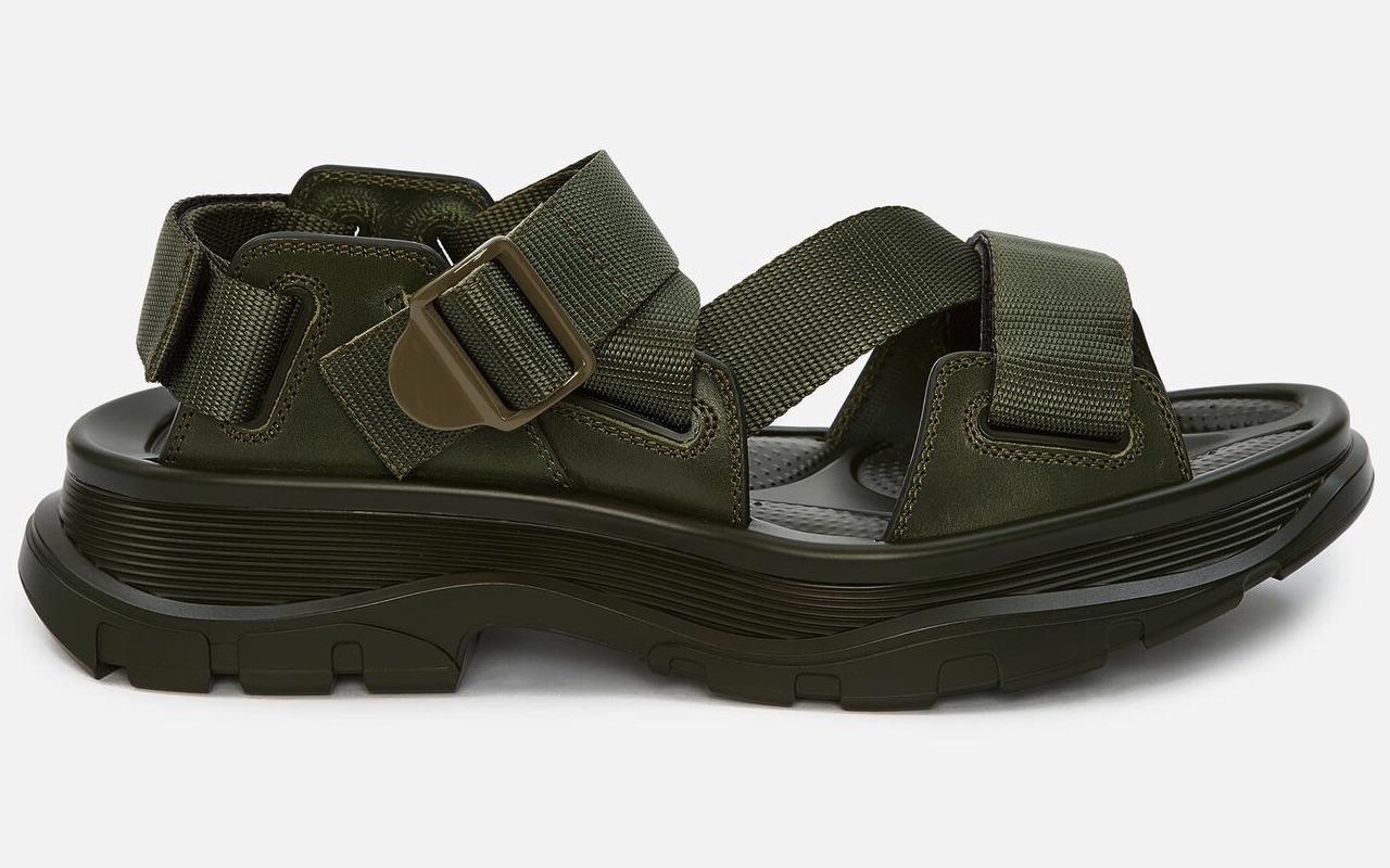 Alexander McQueen Tread Sandals Army Green