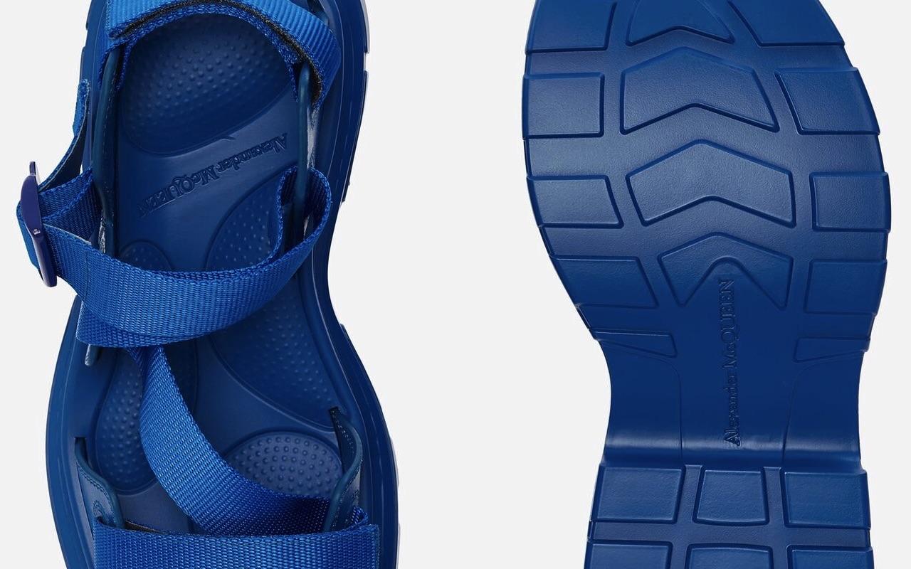 Alexander McQueen Tread Sandals Blue