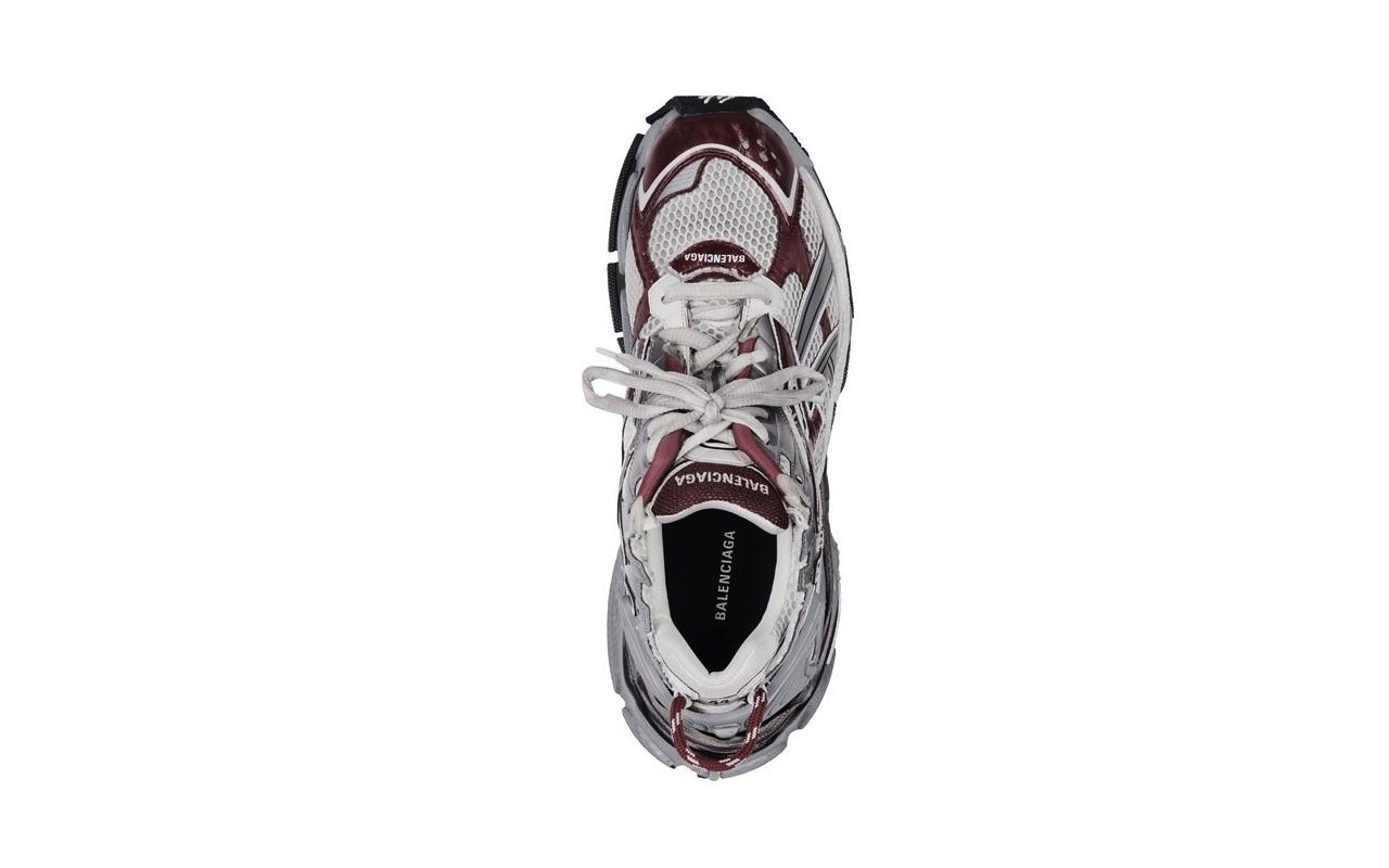 Balenciaga Runner Sneaker Dark Red Grey Black 4